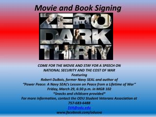 Movie and Book Signing