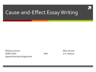 Cause-and-Effect Essay Writing