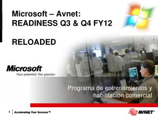 Microsoft – Avnet:  READINESS Q3 & Q4 FY12 RELOADED