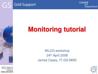 Monitoring tutorial