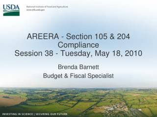 AREERA - Section 105 & 204 Compliance Session 38 - Tuesday, May 18, 2010