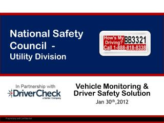 Vehicle Monitoring & Driver Safety Solution