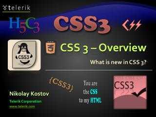 CSS 3 – Overview