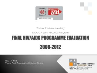 FINAL HIV/AIDS PROGRAMME EVALUATION 2008-2012