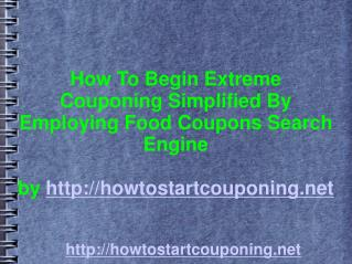 How To Commence Extreme Couponing