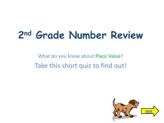 2 nd  Grade Number Review