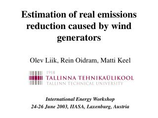 Estimation of real emissions reduction caused by wind generators