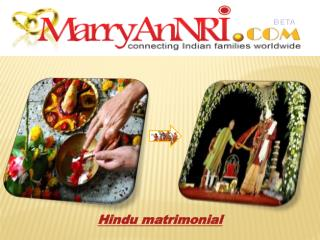 Hindu Matrimonial - The Basics Of Hindu Matrimony