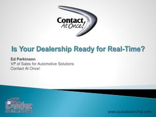 Is Your Dealership Ready for Real-Time?