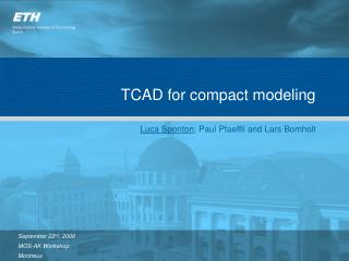 TCAD for compact modeling