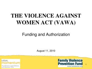 THE VIOLENCE AGAINST WOMEN ACT (VAWA)