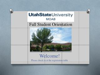 Fall Student Orientation