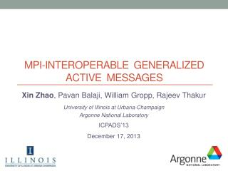 MPI-Interoperable  generalized Active  Messages