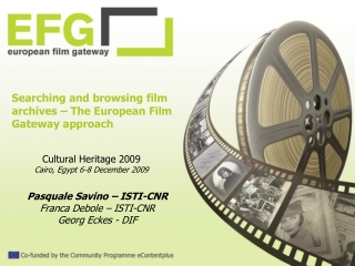 Searching and browsing film archives – The European Film Gateway approach