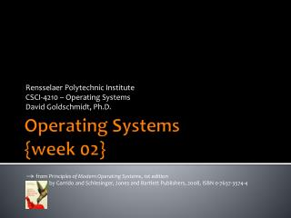 Operating Systems { week  02}