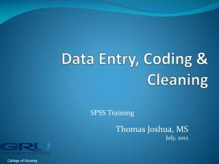 Data Entry, Coding & Cleaning