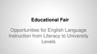 Educational Fair