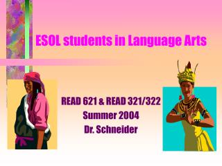 ESOL students in Language Arts