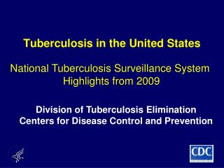 Tuberculosis in the United States
