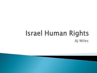 Israel  Human Rights