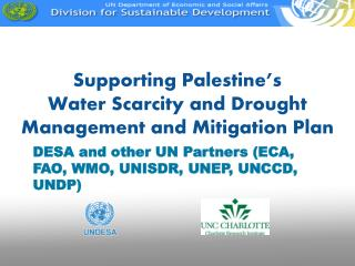 Supporting Palestine's Water Scarcity and Drought Management and Mitigation Plan
