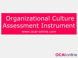 Organizational Culture Assessment Instrument