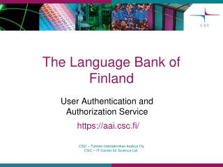 The Language Bank of Finland