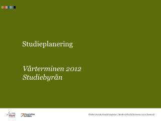 Studieplanering