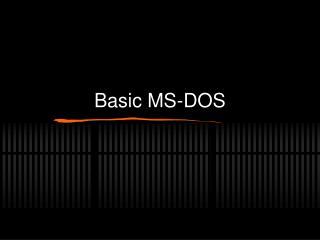 Basic MS-DOS