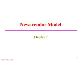 Newsvendor Model