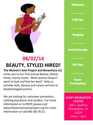 08/02/14 Beauty ,  Styled Hired!