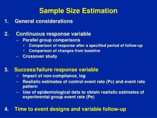 Sample Size Estimation