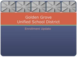 Golden Grove  Unified School District