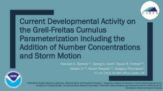 O verview of Grell -Freitas Cumulus Parameterization