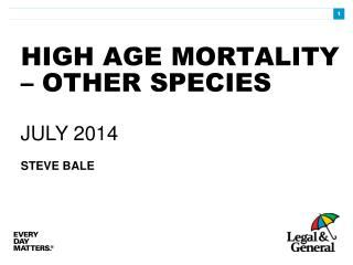 HIGH AGE MORTALITY – OTHER SPECIES
