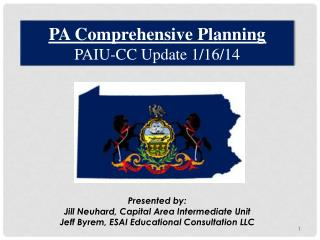 PA Comprehensive Planning PAIU-CC Update 1/16/14
