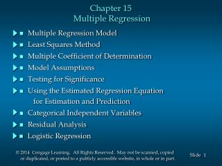 Chapter 15  Multiple Regression
