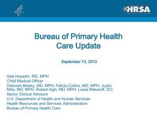 Bureau of Primary Health Care Update