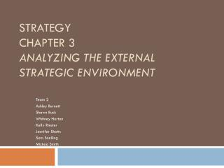 Strategy Chapter 3 Analyzing the External Strategic Environment