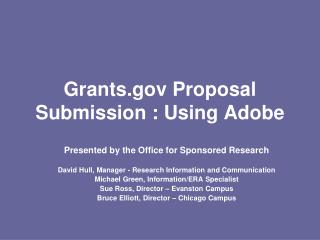 Grants Proposal Submission : Using Adobe