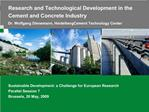 Research and Technological Development in the Cement and Concrete Industry