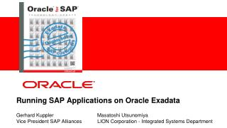 Running SAP Applications on Oracle Exadata