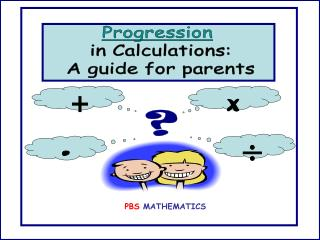 Progression in Calculations: A guide for parents