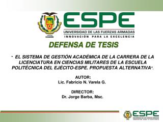DEFENSA DE TESIS