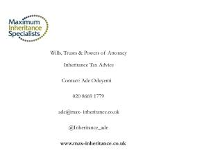 Wills, Trusts & Powers of Attorney