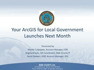 Your ArcGIS for Local Government Launches Next Month