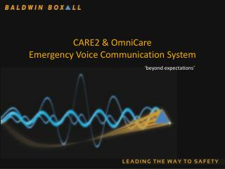 CARE2 & OmniCare Emergency Voice Communication System