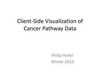 Client-Side Visualization of Cancer Pathway Data