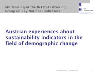 6th Meeting of the INTOSAI Working Group on Key National Indicators