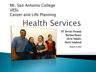 Mt. San Antonio College VESL Career and Life Planning